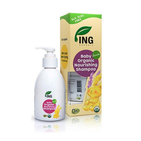 ING ORGANIC เบบี้ นูริชชิ่ง แชมพู กลิ่นลาเวนเดอร์ ขนาด 120 ml.
