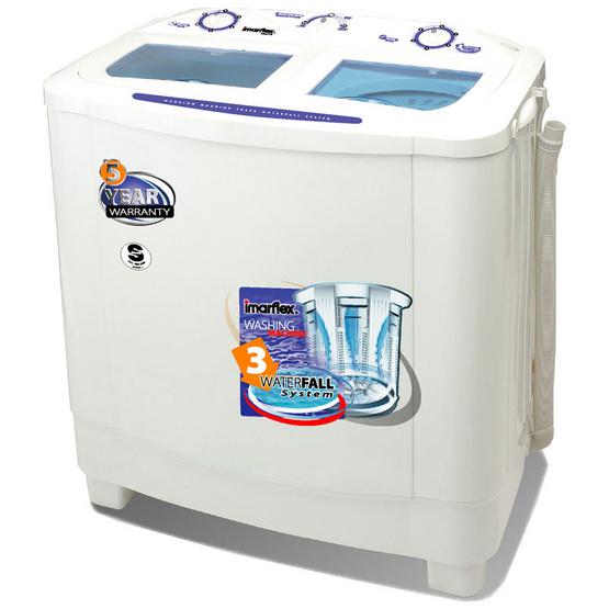 Imarflex เครื่องซักผ้า 2 ถัง WM772 7.2 kg.