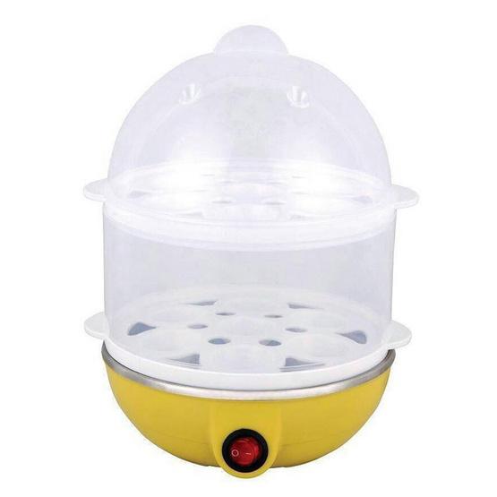 JOWSUA Egg เครื่องต้มไข่ หม้อนึ่งอเนกประสงค์ 2 ชั้น Egg Steamer (สีเหลือง)