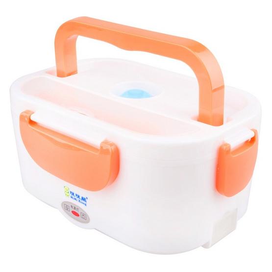 JOWSUA Electric Lunch Box กล่องอุ่นอาหารไฟฟ้า แบบพกพาสีส้ม