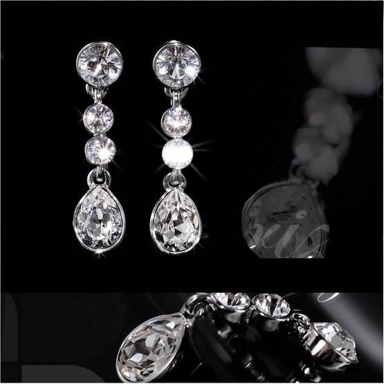 Jewelrize ต่างหู Chandelier size 2.8 Cm Cst 1 Cm