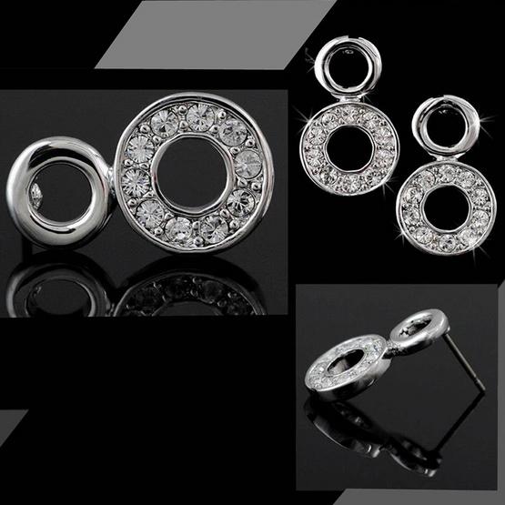 Jewelrize ต่างหู Eight size 2 ซม.