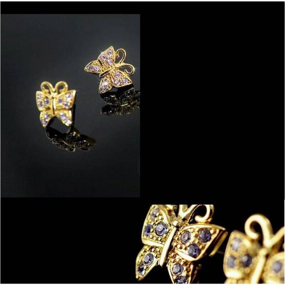 Jewelrize ต่างหู Golden.B size 1.3 Cm