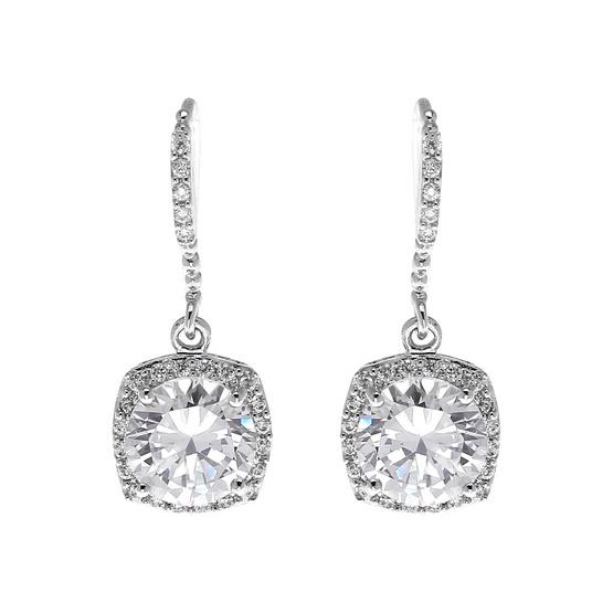 Jewelry Buffet ต่างหูประดับเพชรสวิสชุบทองคำขาว/QE00196