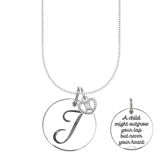 Jewelry buffet จี้เงินแท้ 92.5% สลักอักษรตัว J