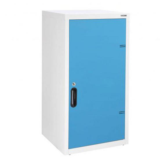 KIOSK-UDB-1 ตู้บานเปิดทึบ 2 ชั้น รุ่น Uni-box สี BO-Blue Ocean