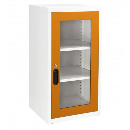 KIOSK-UDB-2 ตู้บานเปิดกระจก 2 ชั้น รุ่น Uni-box สี OR-Orange