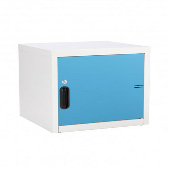 KIOSK-UNI-1 ตู้บานเปิดทึบเล็ก รุ่น Uni-box สี BO-Blue Ocean