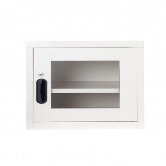 KIOSK-UNI-2 ตู้บานเปิดกระจกเล็ก รุ่น Uni-box สี DG-Fresh White