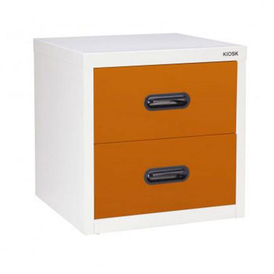 KIOSK-UNI-4 ตู้ 2 ลิ้นชักเล็ก รุ่น Uni-box สี OR-Orange