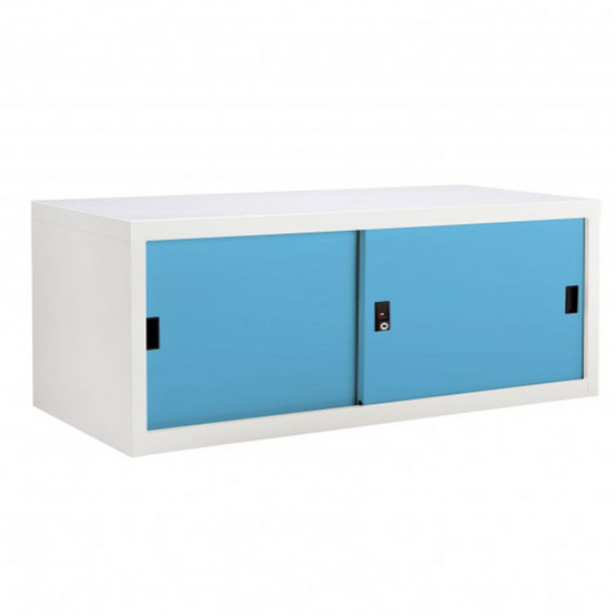 KIOSK-USB-1 ตู้บานเลื่อนทึบเตี้ย รุ่น Uni-box สี BO-Blue Ocean