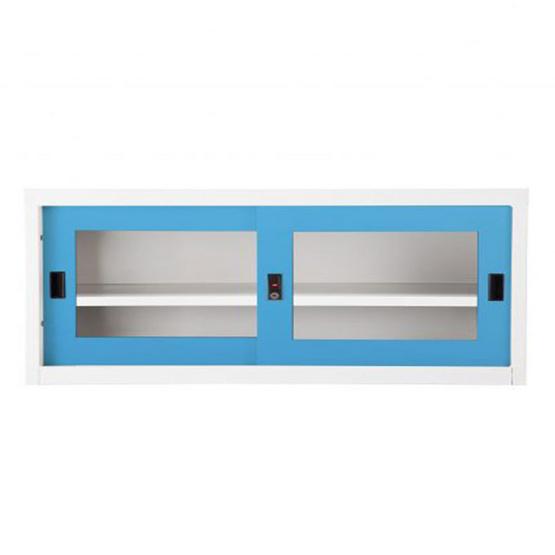 KIOSK-USB-2 ตู้บานเลื่อนกระจกเตี้ย รุ่น Uni-box สี BO-Blue Ocean