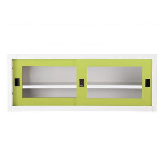 KIOSK-USB-2 ตู้บานเลื่อนกระจกเตี้ย รุ่น Uni-box สี GR-Green