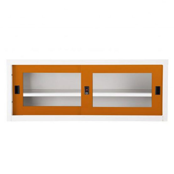 KIOSK-USB-2 ตู้บานเลื่อนกระจกเตี้ย รุ่น Uni-box สี OR-Orange