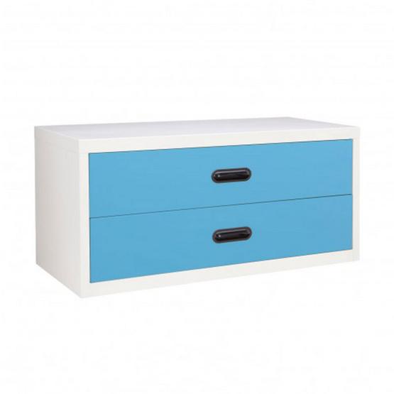 KIOSK-USB-4 ตู้ 2 ลิ้นชักเตี้ย รุ่น Uni-box สี BO-Blue Ocean