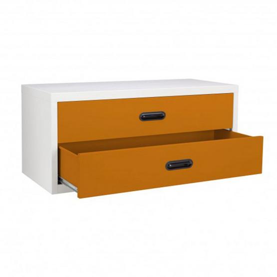 KIOSK-USB-4 ตู้ 2 ลิ้นชักเตี้ย รุ่น Uni-box สี OR-Orange