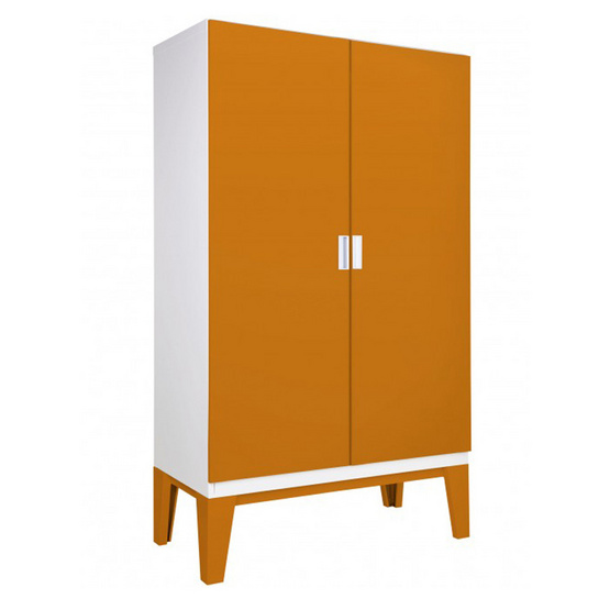 KIOSK-WDC-02 ตู้เสื้อผ้าบานเปิดทึบ รุ่น ROPA OR-Orange