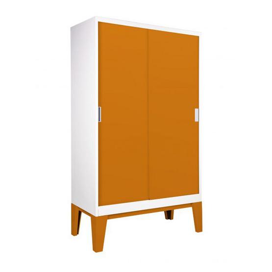 KIOSK-WDC-05 ตู้เสื้อผ้าบานเลื่อนทึบ รุ่น ROPA OR-Orange