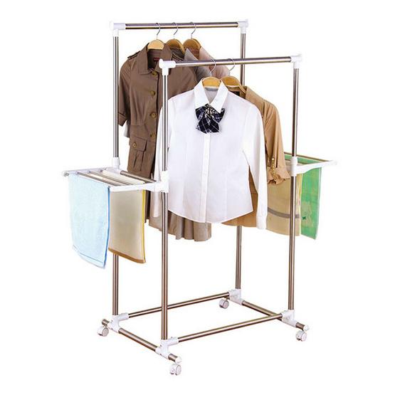 ซื้อ Kantareeya ราวแขวนผ้าสแตนเลสคู่-ปรับระดับ KT-EP56