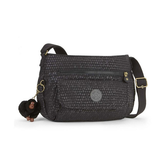 Kipling กระเป๋าสะพาย Syro #Black Scale Emb