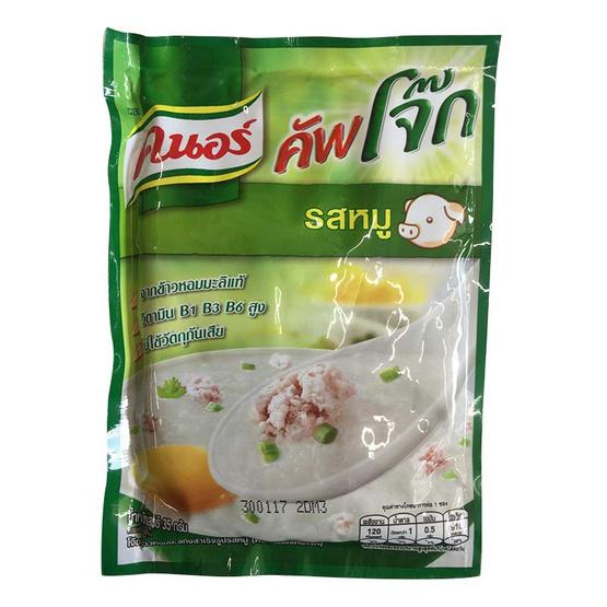 Knorr คนอร์ คัพโจ๊ก โจ๊กกึ่งสำเร็จรูป รสหมู (ซอง) ขนาด 35 g. (12 ชิ้น)
