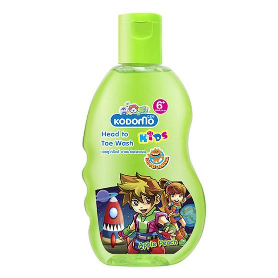 Kodomo โคโดโมเฮดทูโทคิดส์ อาบน้ำและสระผม (Apple) Kids Head To Toe Wash 200 ml แพ็ค 3