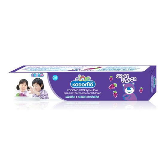 Kodomo ยาสีฟันโคโดโมครีม กลิ่นองุ่น Cream Toothpaste (Grape) 80 g แพ็ค 3