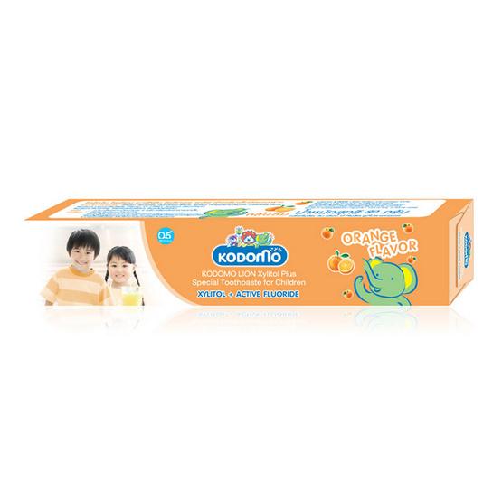 Kodomo ยาสีฟันโคโดโมครีม กลิ่นส้ม Cream Toothpaste (Orange) 80 g แพ็ค 3