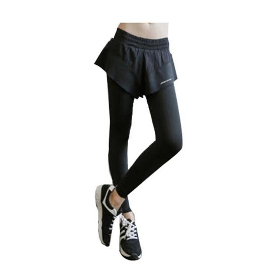 Lady Fit กางเกงออกกำลังกาย (2 ชั้น) สีดำ