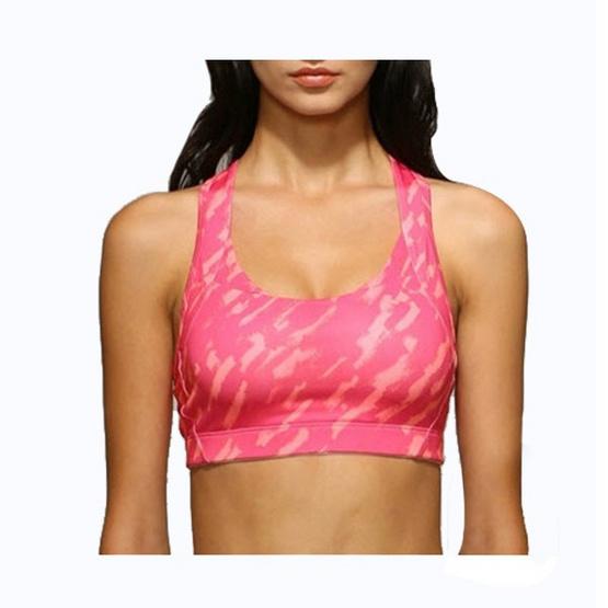Lady Fit Sport bra ลายหินอ่อน Size S สีส้ม-ชมพู