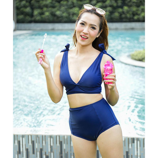 Little Sweet Bikini ชุดว่ายน้ำทูพีช รุ่น XOXO สีกรมท่า