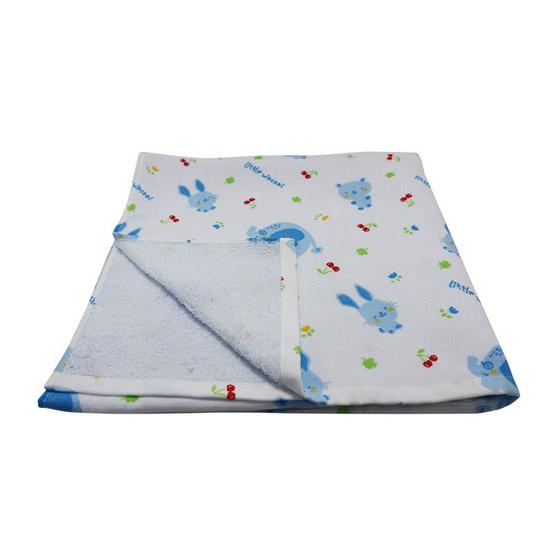 Little Wacoal ผ้าเช็ดตัวผ้ากาเสะ (ผ้าขนหนูผสมผ้าสาลู) สีฟ้า