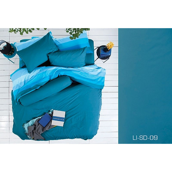 Lotus รุ่น Impression LI-SD-009 ผ้าปูที่นอน 6 ฟุต 5 ชิ้น + ผ้านวม 90x100