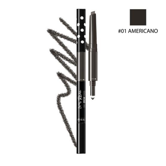 MALISSA KISS It's Real 3in1 Brow Pencil #01 AMERICANO