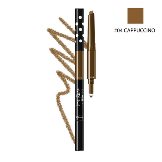 MALISSA KISS It's Real 3in1 Brow Pencil #04 CAPPUCCINO