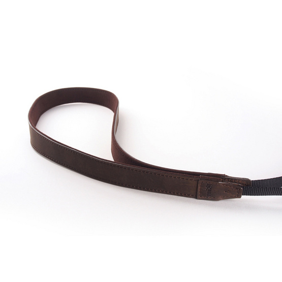 MI81 สายคล้องคอ NECK STRAP DARK BROWN LEATHER