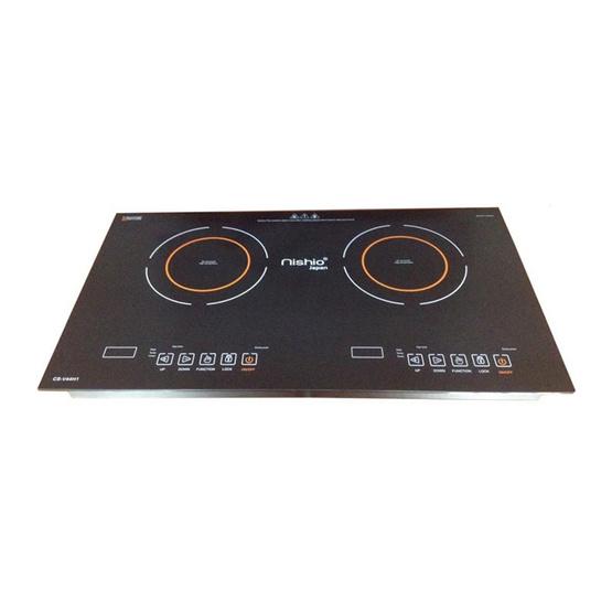 MITSUMARU เตาไฟฟ้าหัวคู่ CSV44H1 สีดำ