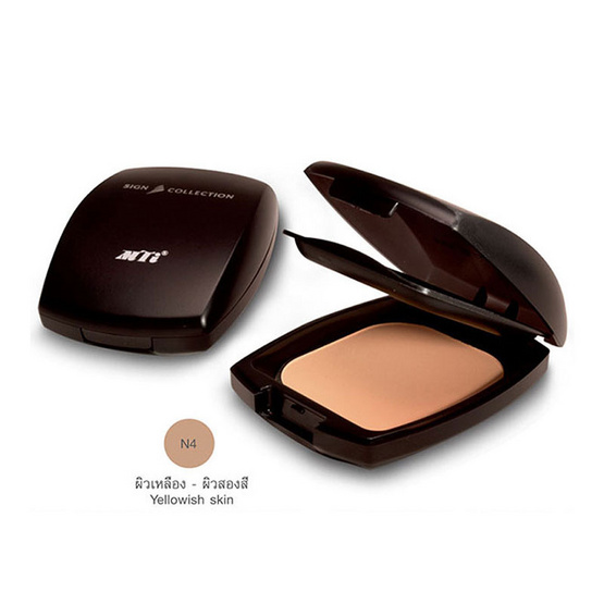 MTI SilkFoundation Powder Sign Collection 10g. PKSI2-N4 #ผิวขาวเหลือง