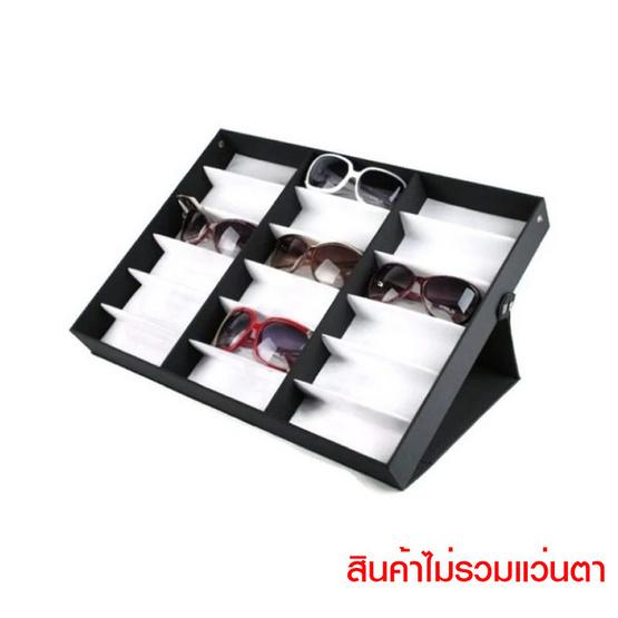 M&T กล่องแว่น 18 ช่อง ตั้งได้ พื้นขาว