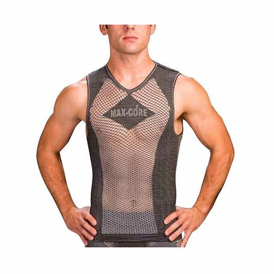 Max-Core เสื้อกล้ามออกกำลังกาย (บุรุษ) Free Size/ดำ