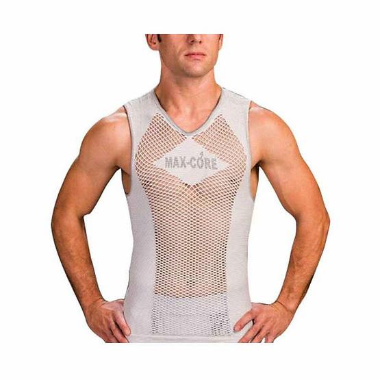 Max-Core เสื้อกล้ามออกกำลังกาย (บุรุษ) Free Size/ขาว
