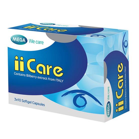 Mega We Care II CARE ผลิตภัณฑ์เสริมอาหารดูแลดวงตา บรรจุ 30 แคปซูล