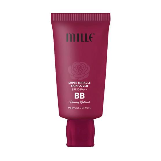 ส่งฟรี !! Mille BB Cream Super Miracle Skin Cover No.1 Silky Ivory - Mille, ผลิตภัณฑ์ความงาม