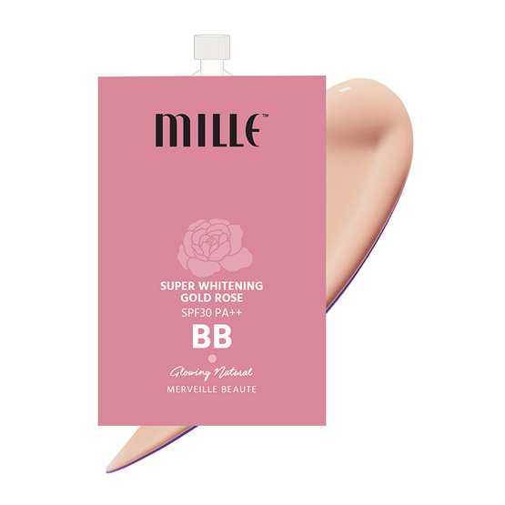 Mille Super Whitening Gold Rose BB Cream 7g.#02 Glowing Nature