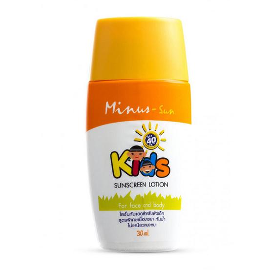 Minus SunFacial & Body Sunscreen LotionKidsSPF40 PA++++ 30ml.