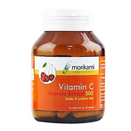 Morikami ซื้อ 2 แถม 1 Vitamin C - Acerola วิตามิน ซี อะเซโรลา สกัด 30 แคปซูล