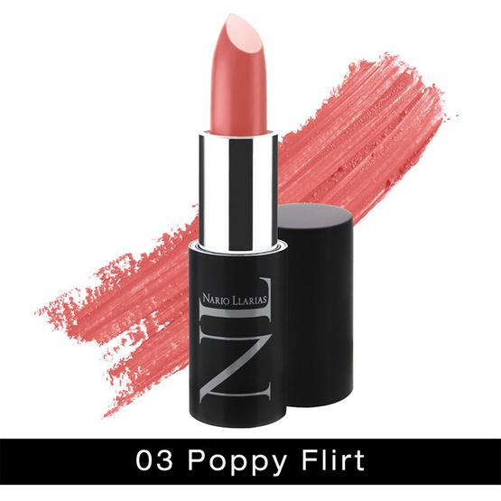 ดีไหม !! Nario Llarias Secret Glamour Lip Color 4.2 g. #03 POPPY FLIRT - Nario llarias, ผลิตภัณฑ์ความงาม