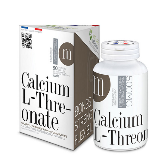 Naturemedica Calcium L-Threonate แคลเซียม แอล-ทรีโอเนต บรรจุ 60 แคปซูล