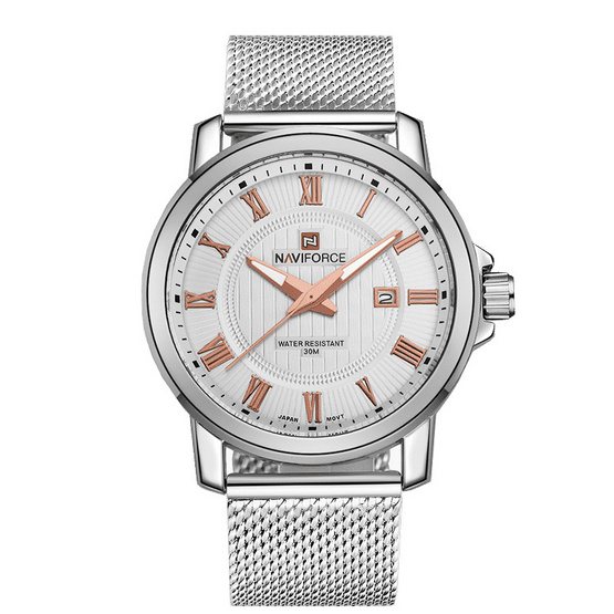 Naviforce watch NF9052M Rose Gold Silver