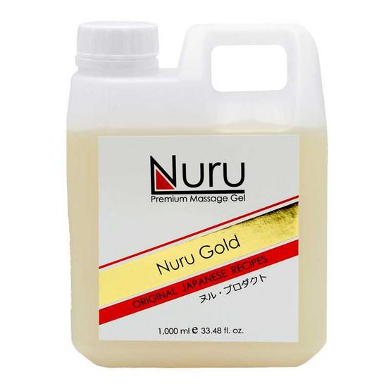 Nuru gold (นูรุ โกลด์) เจลนวดตัวสำหรับบุรุษและสตรีให้ความลื่น นุ่มนวลในการนวด ขนาด 1000 มล.